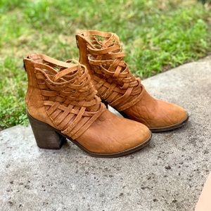 Free People Woven Booties